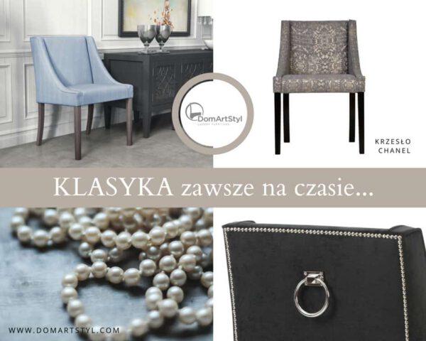Eleganckie krzesło Chanel