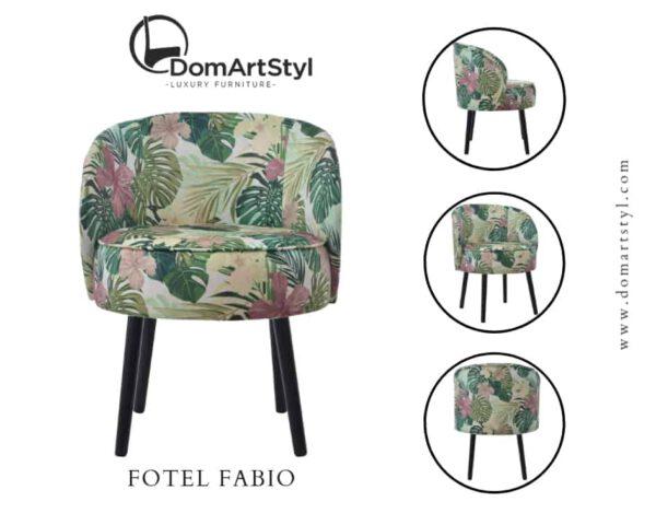 Fotel Fabio tkanina kolory liście