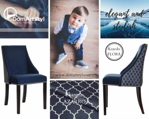 Krzesło Flora w tkaninie domartstyl