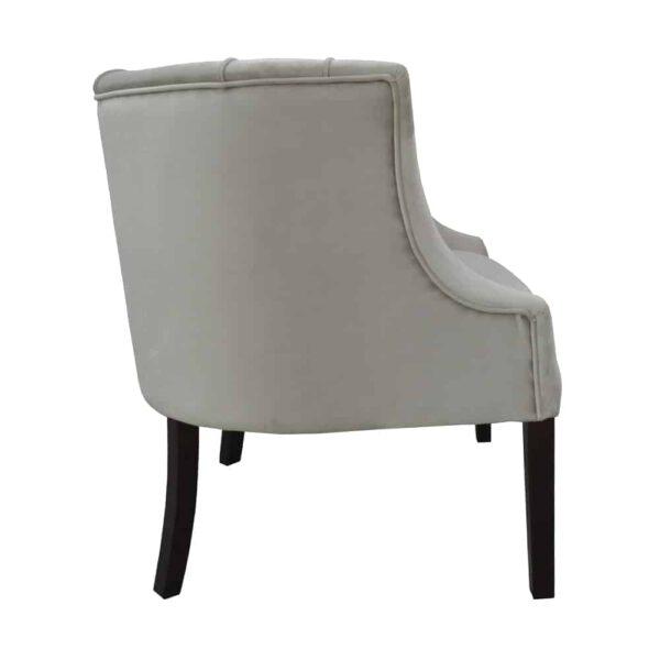 Fotel Begonia, french velvet 6740, 8 ciemny orzech (3)