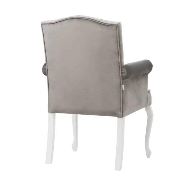 Fotel Evanell, french velvet 6700, 14 biały (3)