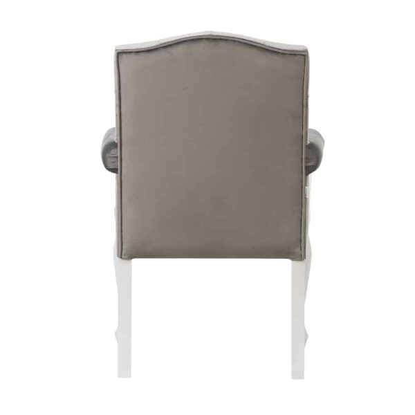 Fotel Evanell, french velvet 6700, 14 biały (4)