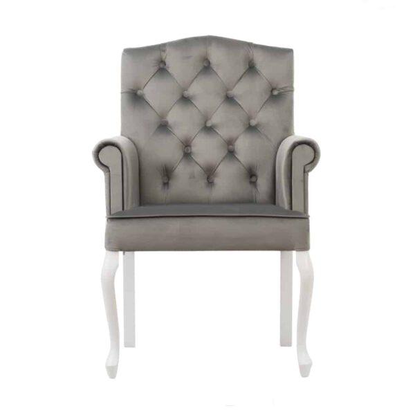 Fotel Evanell, french velvet 6700, 14 biały (5)