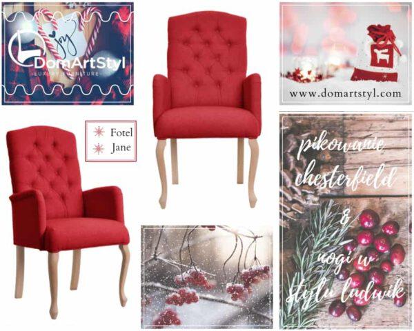 Fotel Jane w świątecznym motywie