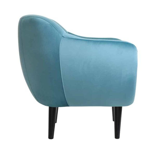 Fotel Titino, french velvet 667, 6 czarny (3)