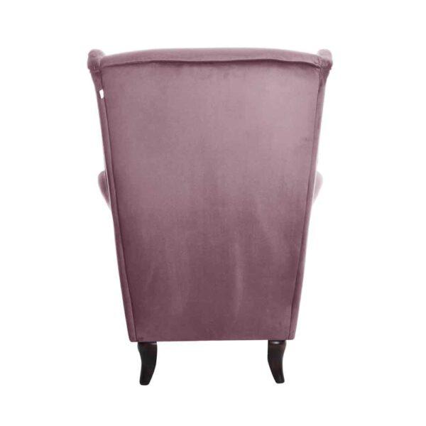Meble tapicerowane z Kępna. Wyjątkowy fotel tapicerowany typu uszak domartstyl