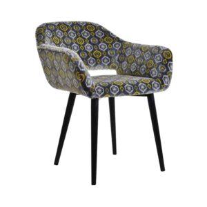 Fotel Vinci, tkanina powierzona romby, 6 czarny (2)