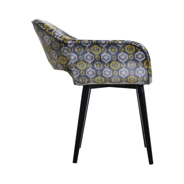 Fotel Vinci, tkanina powierzona romby, 6 czarny (3)