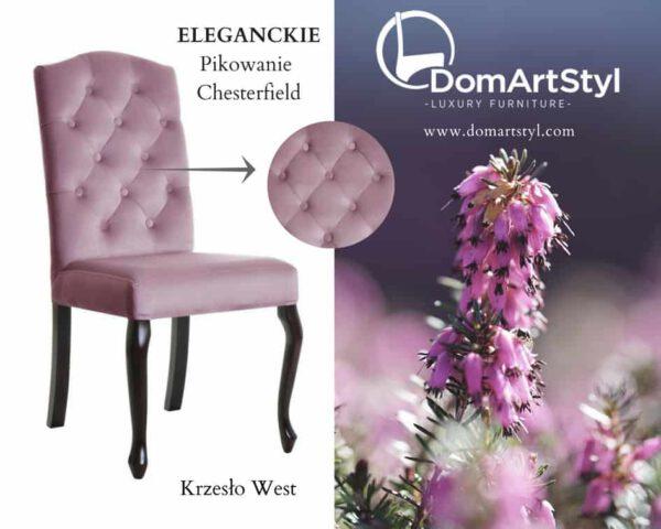Krzesło west pikowanie chesterfield