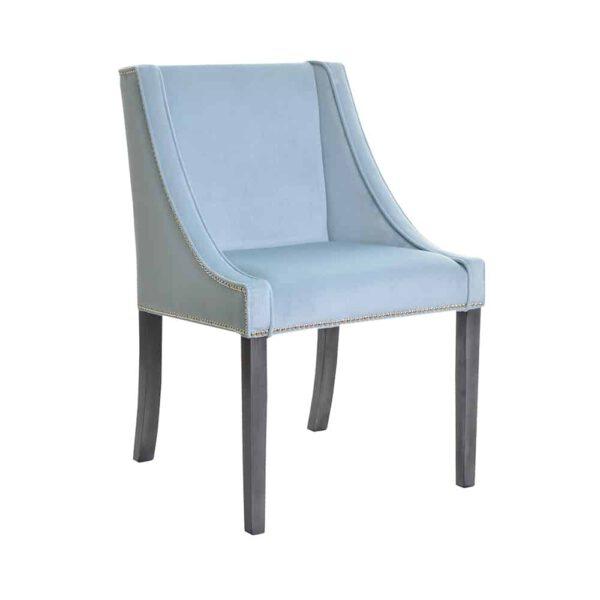 Krzesło Chanel, fuego 164, patyna czarna, tasiemka pineskowa (2)