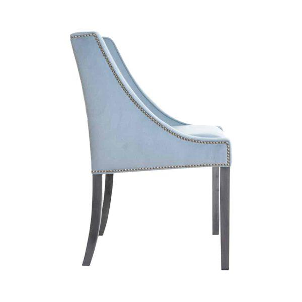 Krzesło Chanel, fuego 164, patyna czarna, tasiemka pineskowa (3)