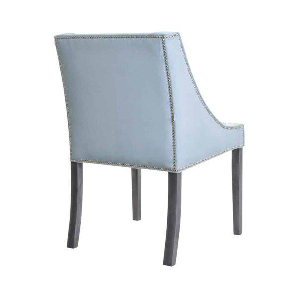 Krzesło Chanel, fuego 164, patyna czarna, tasiemka pineskowa (4)