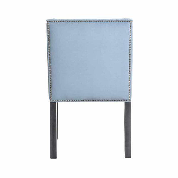Krzesło Chanel, fuego 164, patyna czarna, tasiemka pineskowa (5)