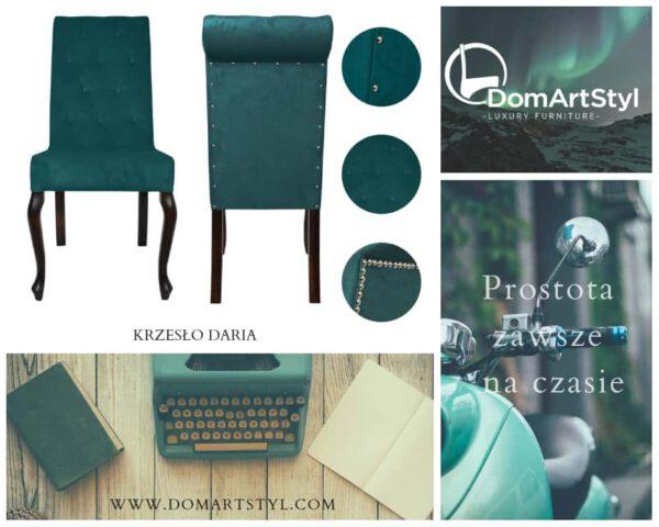 Nowoczesne tapicerowane krzesło Daria