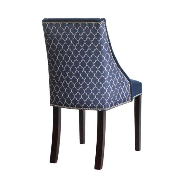 Krzesło Flora, kolekcja tkanin DomArtStyl Azzarro 1, 8 ciemny orzech (4)