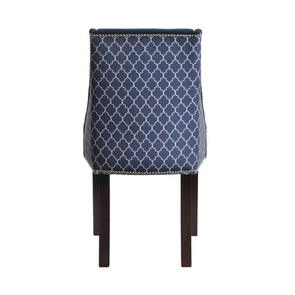 Krzesło Flora, kolekcja tkanin DomArtStyl Azzarro 1, 8 ciemny orzech (5)
