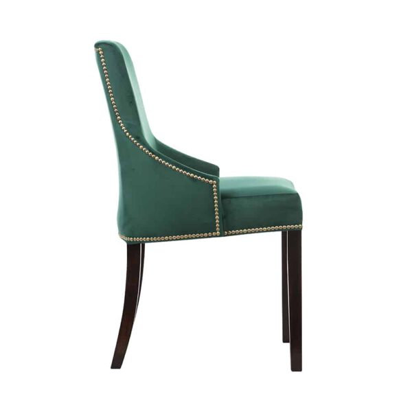 Krzesło Kaczorek, french velvet 658, 8 ciemny orzech  (3)