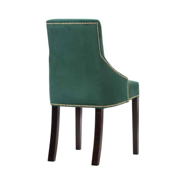 Krzesło Kaczorek, french velvet 658, 8 ciemny orzech (4)