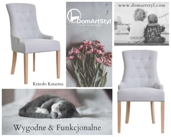 Krzesło Katarina pasuje do wnętrz nowoczesnych jak i tych w stylu glamour