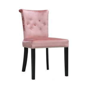 Krzesło Largo, gloss velvet 1211, 6 czarny, tasiemka piseskona T5 + kołatka DomArtStyl Producent mebli tapicerowanych Kępno