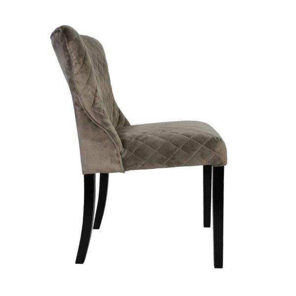 Krzesło Malaga, tkanina powierzona douglas toupe, 6 czarny (3)
