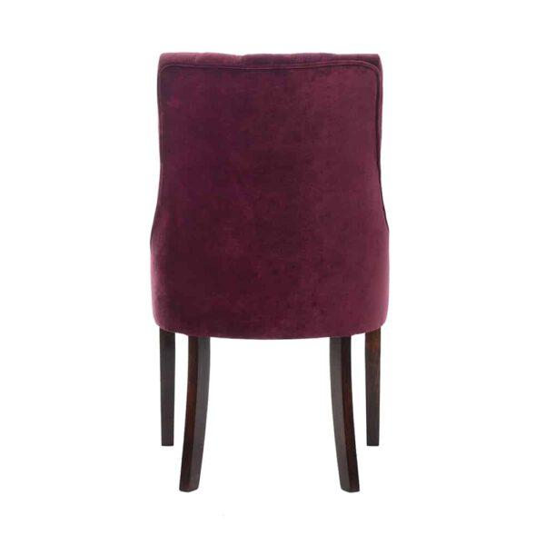Krzesło Margaret, glam velvet 24 plum, 8 ciemny orzech (5)