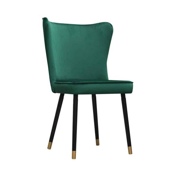 Krzesło Monti, French Velvet 658, czarny + złote końce (2)