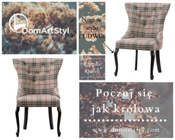 Krzesło Queen wspaniałe krzesło