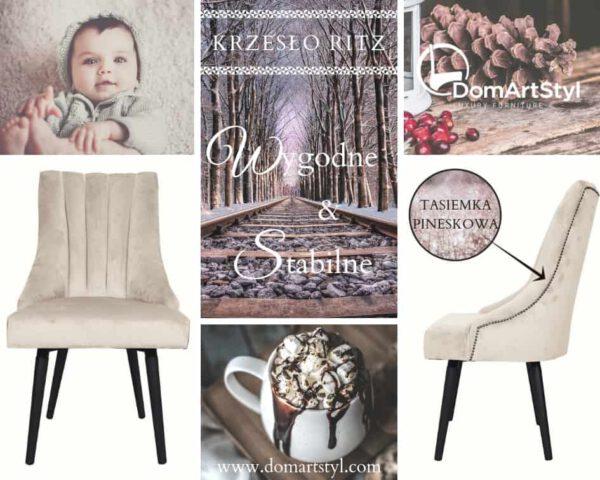 Krzesło Ritz stabilne i wygodne