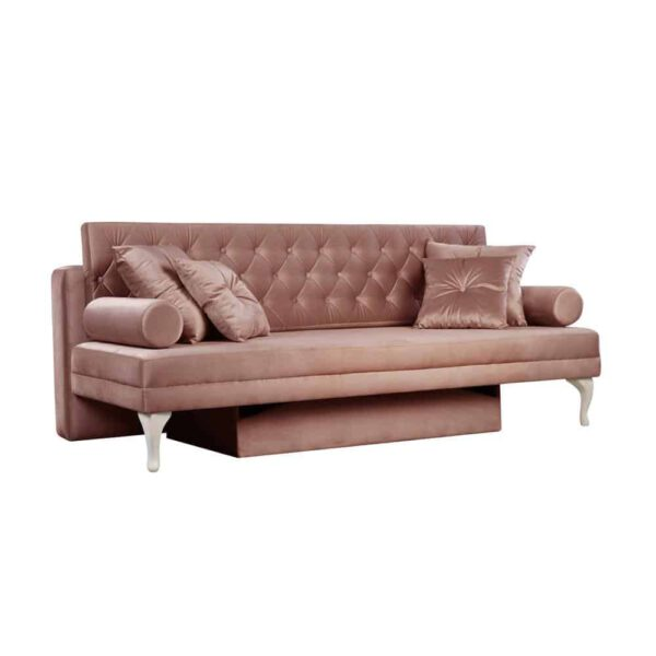 Sofa Baroque, french velvet 682, patyna biała (2)