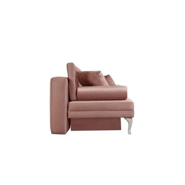 Sofa Baroque, french velvet 682, patyna biała (3)