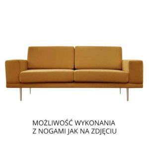Sofa Modesto, kronos 1, nogi metalowe złote