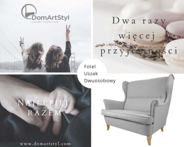 wygodny i niezwykły fotel uszak dwuosobowy