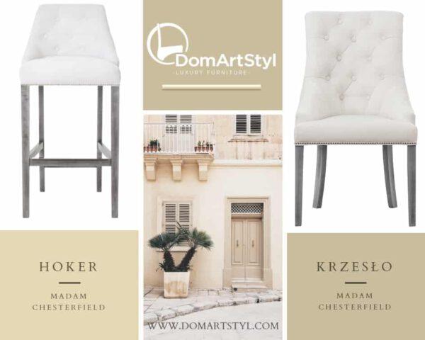 Krzesło Madam Chesterfield nowoczesny design i oryginalny wygląd