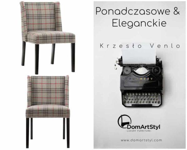 Krzesło Venlo tkanina kratka