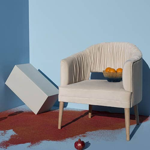 Fotel wstylu Glamour