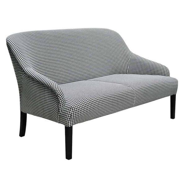 Sofa Victoria II, tkanina powierzona, 6 czarny (2)