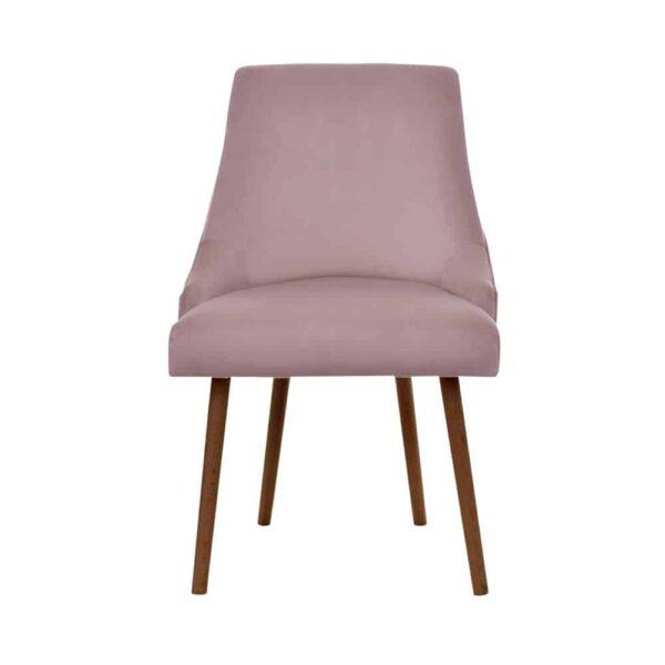 Krzesło Olimpia, French velvet 682, 12 orzech brunat