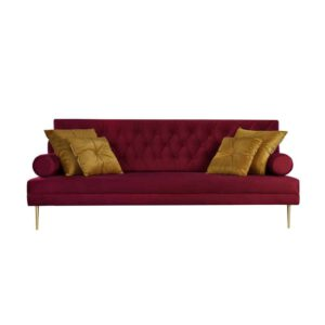 Sofa Verona, french velvet 663, 652, złote nogi (1)
