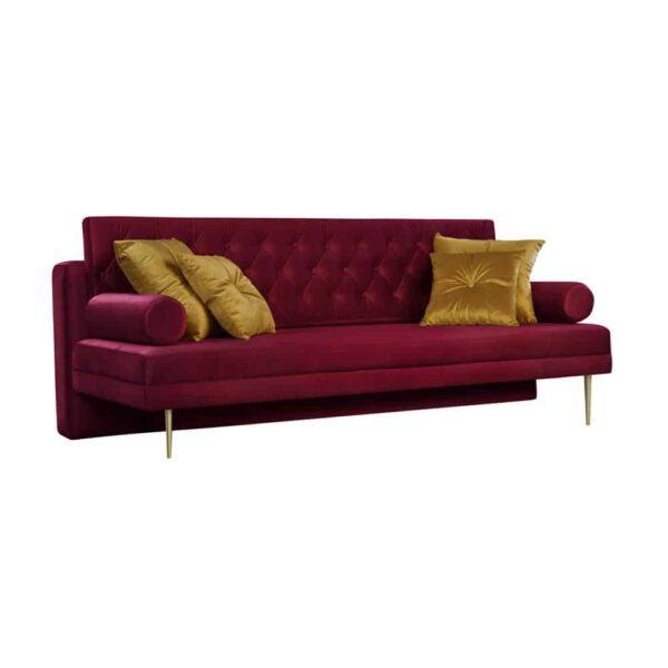 Sofa Verona, french velvet 663, 652, złote nogi (2)