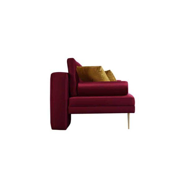 Sofa Verona, french velvet 663, 652, złote nogi (3)