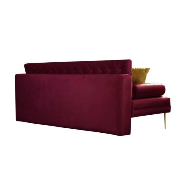 Sofa Verona, french velvet 663, 652, złote nogi (4)