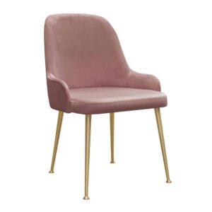 Krzesło Jasmine, french velvet 682, złote nogi (1)