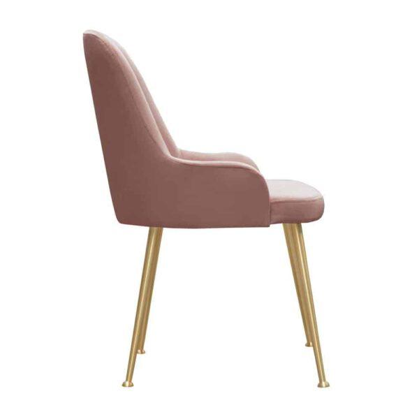 Krzesło Jasmine, french velvet 682, złote nogi (3)