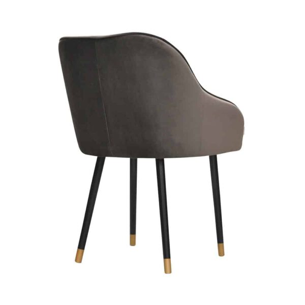 Fotel Albit, magic velvet 2205, czarny + złote końce (4)