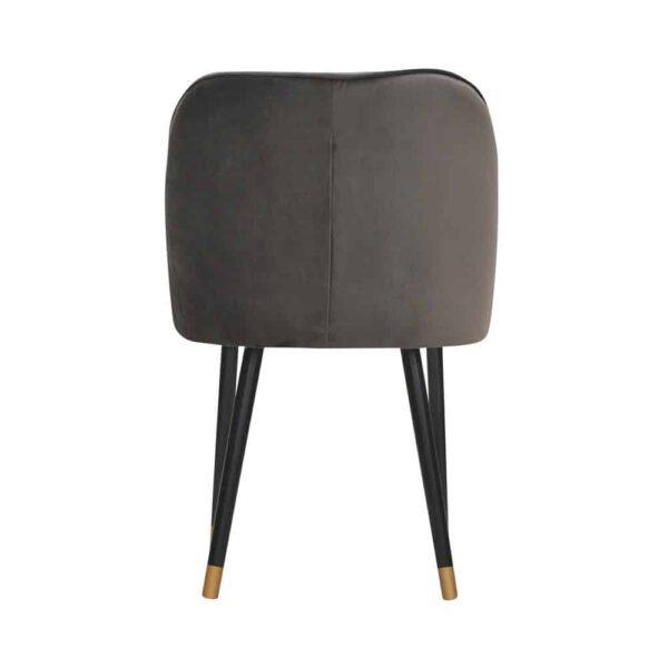 Fotel Albit, magic velvet 2205, czarny + złote końce (5)
