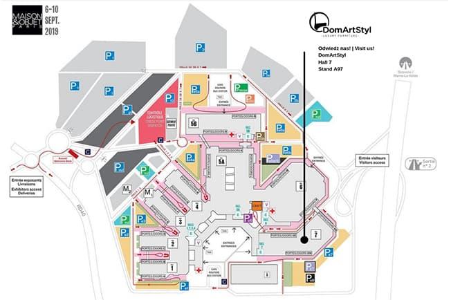 mapa targi paryz