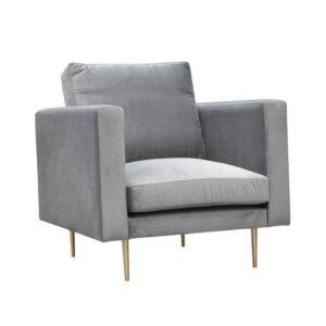 Fotel Panama, Riviera 91, złote metalowe nogi (2)