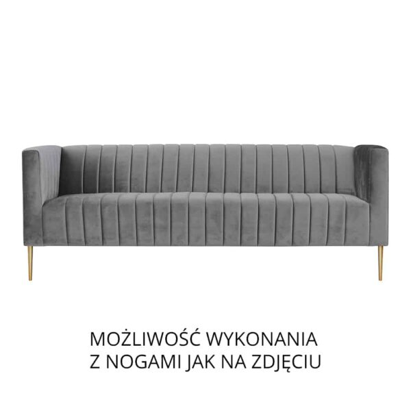 Sofa Aveiro III, złote nogi