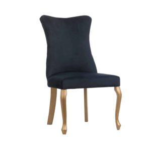 Krzesło Ashley, 18.złoty, fuego 160, gładkie oparcie, nogi ludwik (2) (Copy)